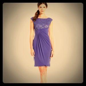 Purple Greek Sequenced Dress
